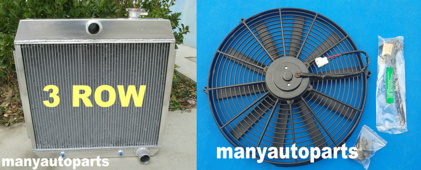 for 1955 1956 1957 CHEVY BEL AIR V8 W//COOLER aluminum radiator 3rows