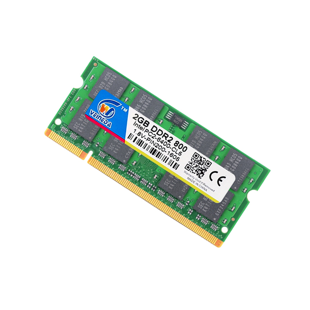 Ноутбук VEINEDA Sodimm DDR2 2 ГБ 800 ddr2 2 Гб 667 для Intel amd mobo поддержка оперативной памяти ddr2 ноутбук 2 Гб pc533 2