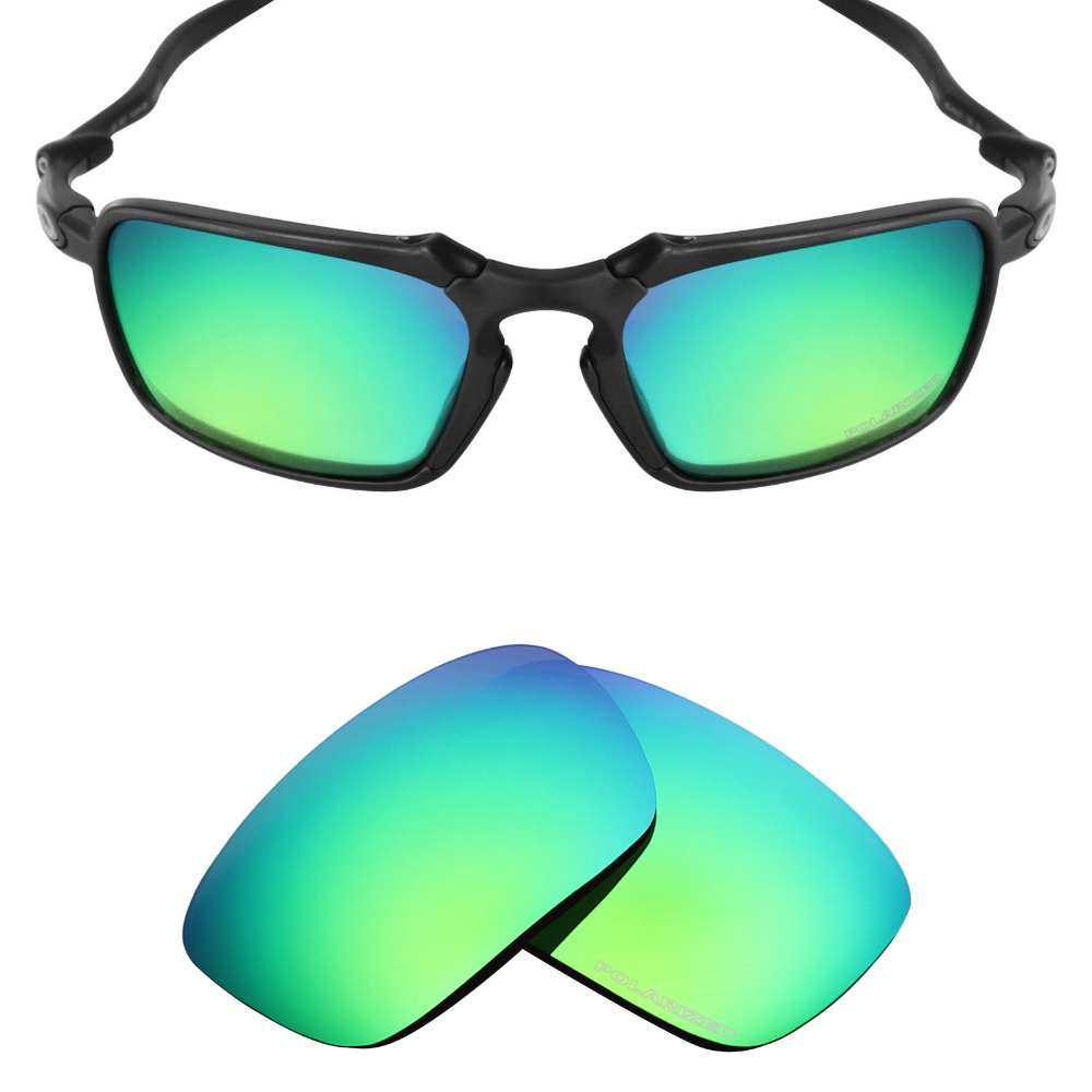 ac3b82db2d Mryok+ POLARIZED Resist SeaWater Replacement Lenses for Oakley Badman  Sunglasses Emerald Green