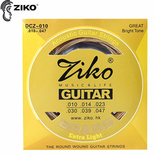 цены ZIKO DCZ 010-047 011-052 012-053 Acoustic guitar strings Brass Extra Light Special strings musical instrument guitar parts