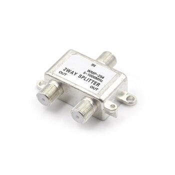 Divisor de Cable coaxial Digital de 2 vías HD bidireccional MoCA 5-1000 MHz conector receptor de TV por satélite diseñado para STV/CATV