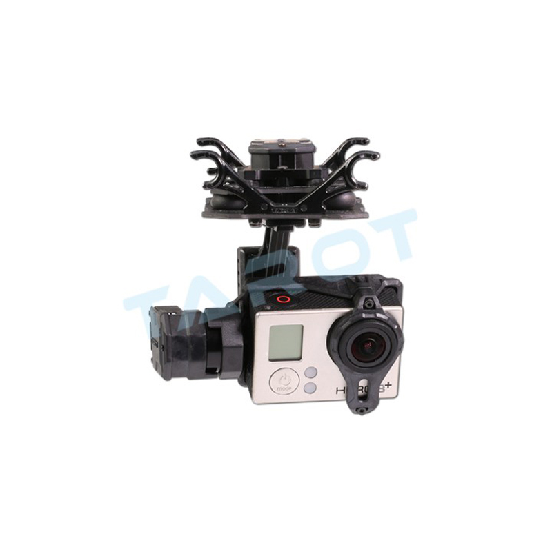Tarot GOPRO T4-3D Dual suspension 3-axis brushless gimbal Camera Mount PTZ for Sports camera GOPRO4/GOpro3+/Gopro3 FPV fpv 3 axis cnc metal brushless gimbal with controller for dji phantom camera drone for gopro 3 4 action sport camera only 180g