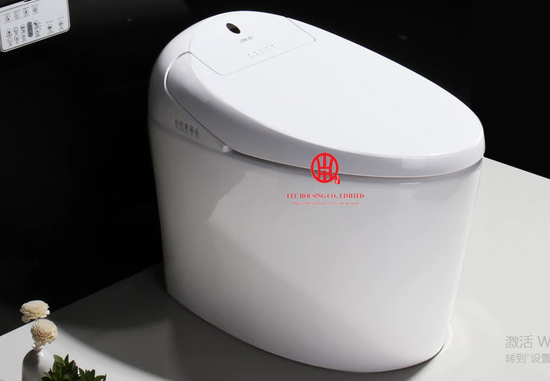 Free Shipping Luxury Intelligent Toilet Smart Ceramic Toilet S-trap 220V  Factory Price Automatic Clean Flushing Siphonic