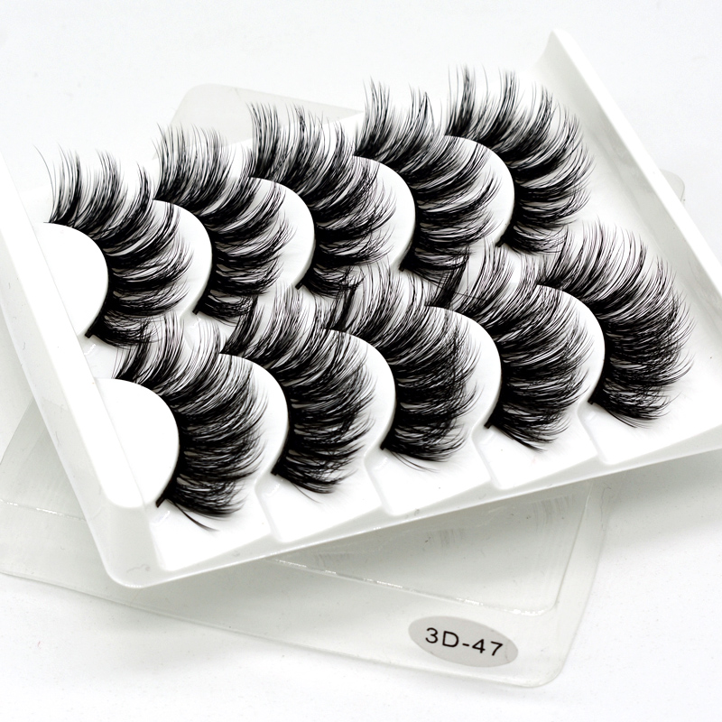 Image 4 - SEXYSHEEP 5Pairs 3D Faux Mink eyelashes False Eyelashes Long Lashes Wispy Makeup Beauty Extension Tools Wimpers 13 Styles-in False Eyelashes from Beauty & Health