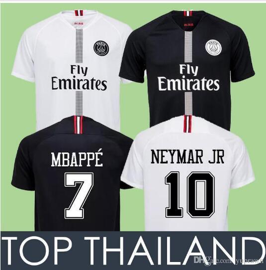db907f38d 2018 new Paris Saint Germain PSG Soccer Jersey 19 18 7 Mbappe 6 Verratti 9  Cavani 32 DANI ALVES 10 11 DI MARIA 2 T SILVA Footba