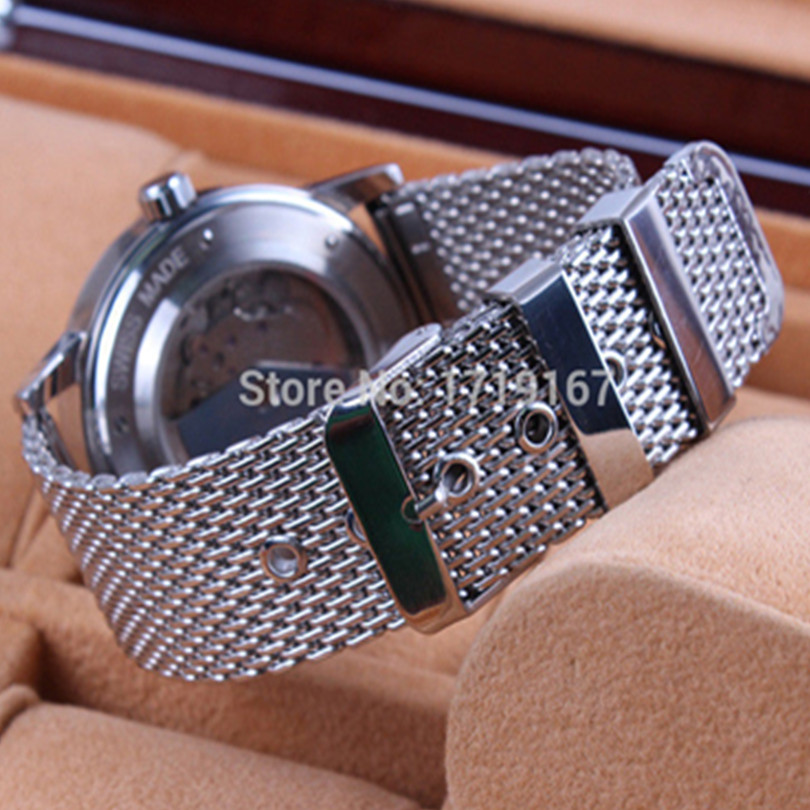 20mm 22mm <font><b>24mm</b></font> Heavy Duty Stainless Steel Watch Bracelet <font><b>Strap</b></font> Mesh Band For <font><b>Breitling</b></font> image