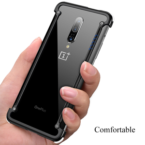 Image 2 - OATSBASF luxury Airbag Metal Case  For Oneplus 7t Case Personality Airbag Shell Metal Bumper Cover For Oneplus 7t pro