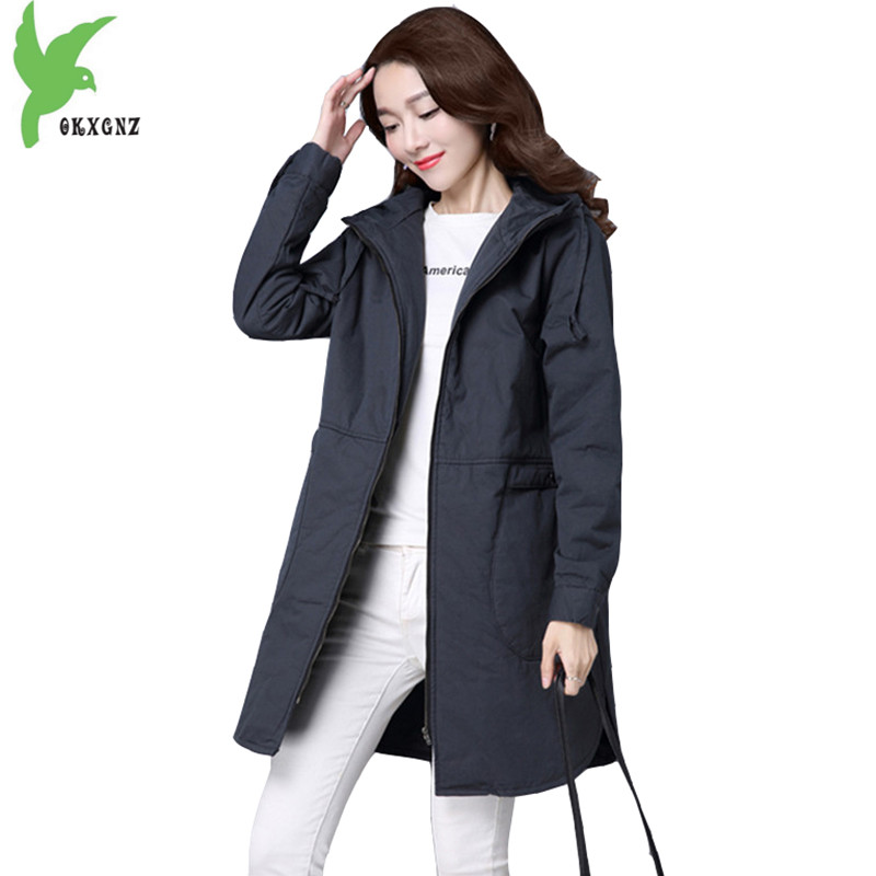 Winter Women's Cotton Coats New Fashion Solid color Hooded Female Casual Tops Keep Warm Slim Plus size Cotton Jacket OKXGNZ A716 winter women s cotton jackets new fashion hooded warm coats solid color thicker casual tops plus size slim outerwear okxgnz a735