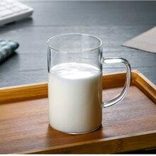 500 мл стеклянная кружка для пива стакан для молока большой стакан с ручкой термоустойчивая чашка прозрачная чашка