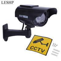 Waterproof Practical Indoor Outdoor Solar Power Dummy Fake Imitation Home CCTV Surveillance Camera With LED Light