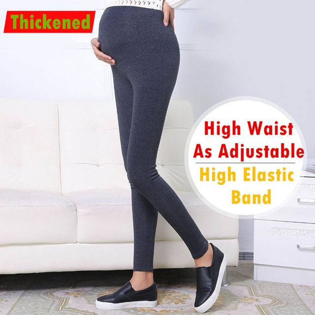 Winter High Waist Maternity Leggings For Pregnance Women Warm&Thick Maternity Leggings Pants Slim Leggings Pants For Maternity