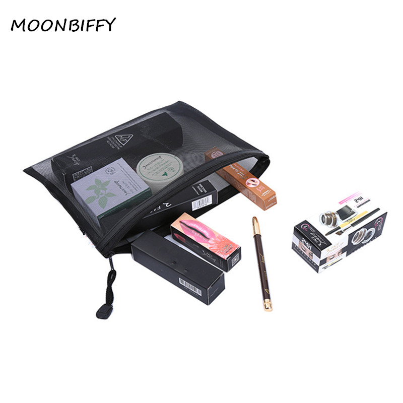 Casual Travel Cosmetic Bag Women Zipper Make Up Transparent Makeup Case Organizer Storage Pouch Toiletry Beauty Wash Kit Bags 3 set women travel cosmetic bag transparent zipper crown make up bag wash kit bags makeup organizer storage beauty toiletry case