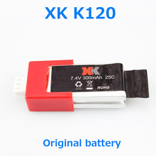 Original XK K120 Battery 7.4V 300mAh 25C Battery XK K120 RC Helicopter Spare Parts Free Shipping