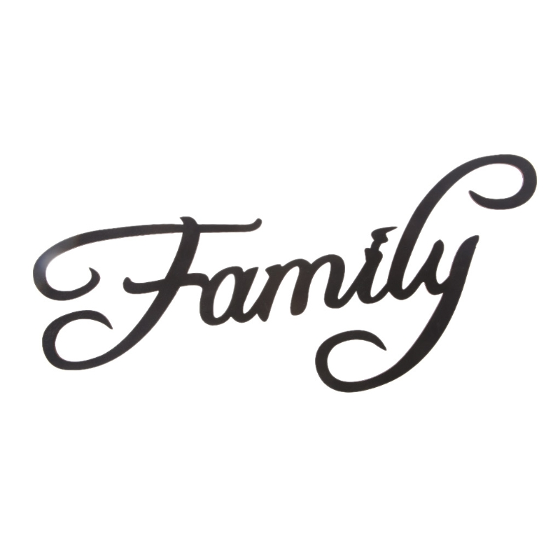 Family Letter Word Wood Hanging Sign Wall Decal Sticker Room Home Decor Ornament