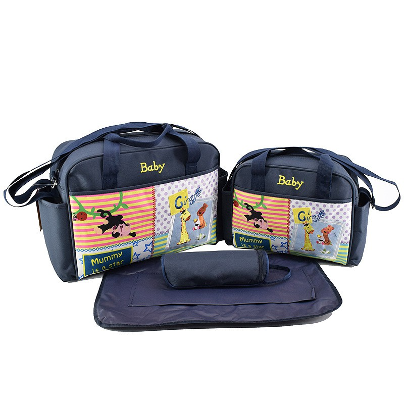 MOTOHOOD 4pcs Baby Diaper Bag Sets For Mom Cute Animal Baby Stroller Bag Organizer Fashion Maternity Bags Handbags For Moms (2)