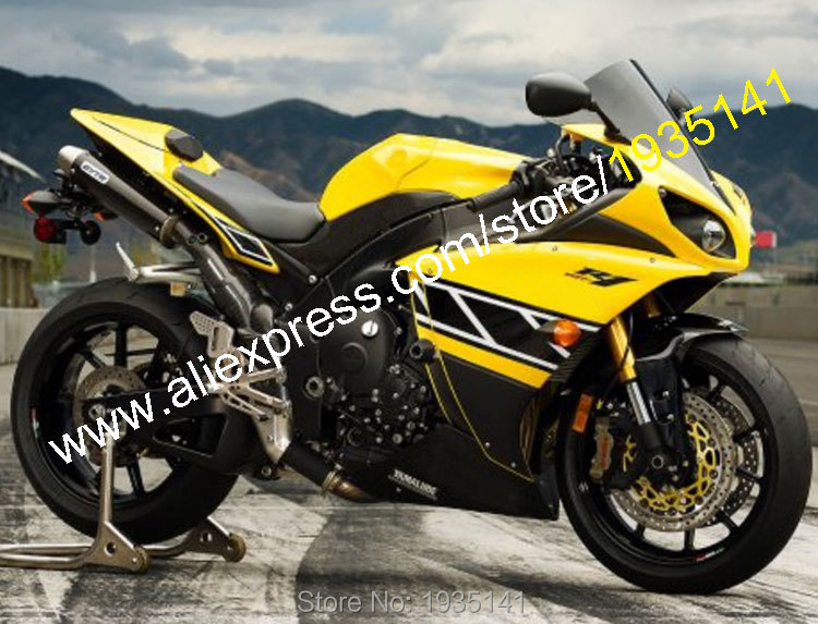 Hot Sales,For Yamaha Fairing YZF R1 2009 2010 2011 YZFR1 09-11 YZF 1000 YZF-R1 Yellow Black Moto Fairing Kit (Injection molding) hot sales for yamaha yzf r1 2007 2008 accessories yzf r1 07 08 yzf1000 black aftermarket sportbike fairing injection molding