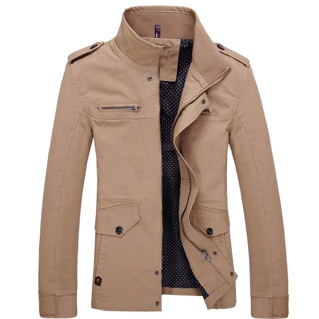 Bolubao Men's Winter Jacket Fashion British Style Windbreaker ...