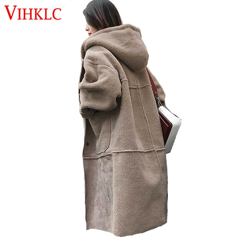 Winter Coat Women Warm Casual Long Outwear Women Hooded Thick Parkas Winter Jacket Women lambswool Coat H507