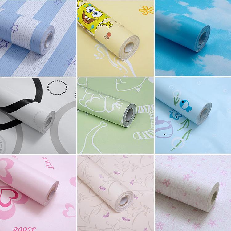 Furniture Wardrobe Refurbished 10M*45cm Waterproof Moisture Self-adhesive Wallpaper Baby Bedroom Student Dormitory Wall Stickers
