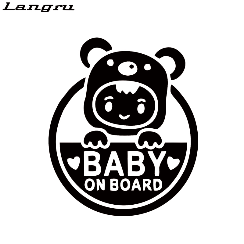 Langru Baby On Board Cute And Interesting Fashion Art Painting Car Stickers Vinyl Decor Decals Jdm