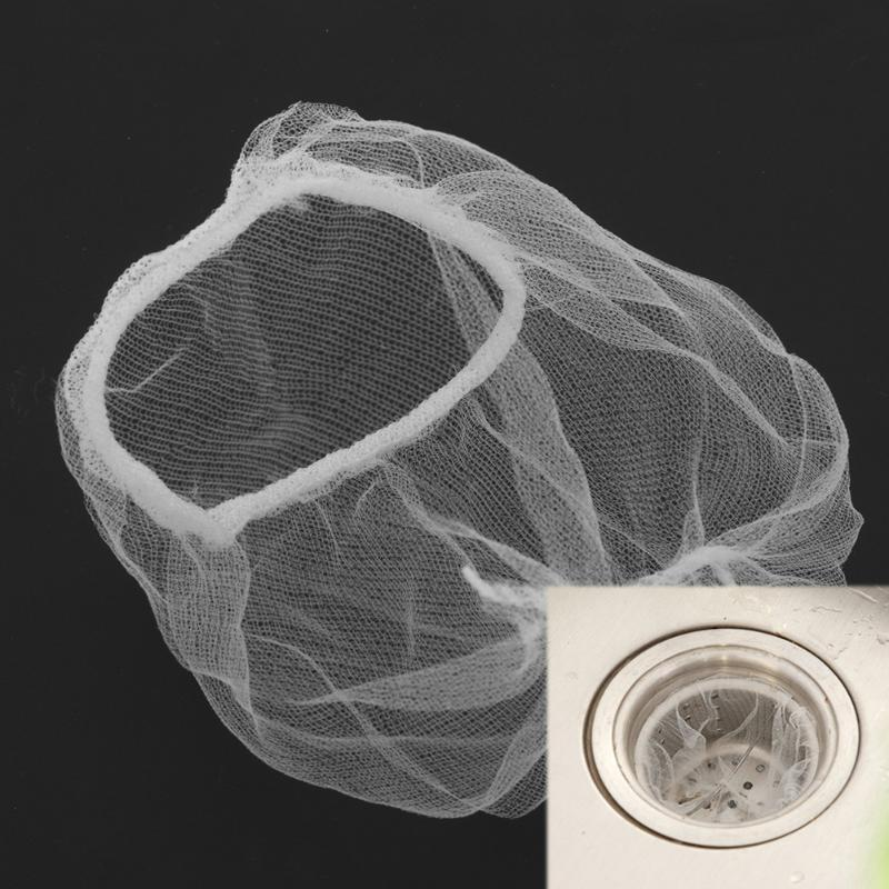 20pcs Disposable Hair Filter Mesh Sink Filter Sewer Anti Block Deodorize Sewer Hair Colanders Strainers Kitchen Sink Accessories