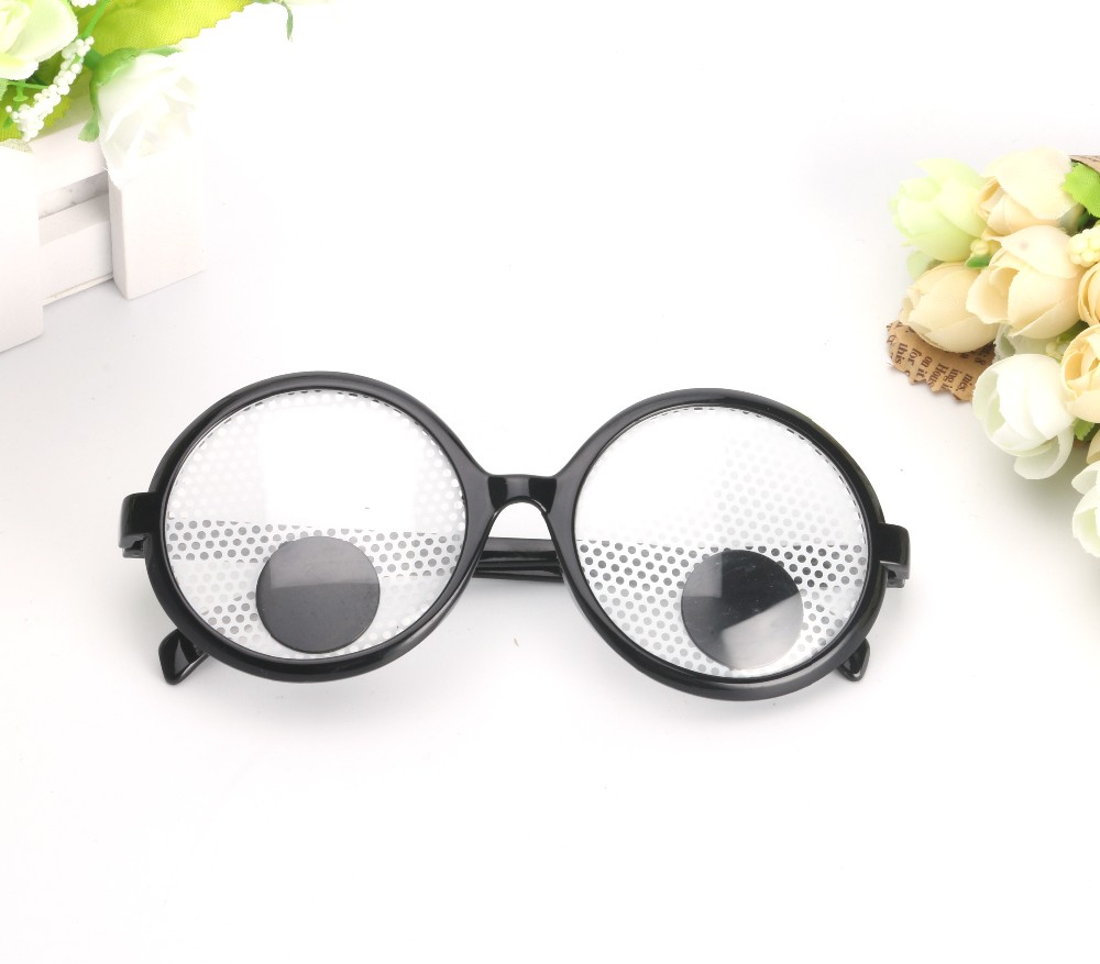 37c84a9b9 Decoração de natal Engraçado Óculos de Olhos Arregalados Balançando Olhos  Vidros Do Partido e Brinquedos para a Festa de Cosplay Adereços Foto Do  Casamento