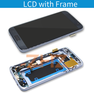 Image 2 - Super amoled For Samsung Galaxy S7 LCD G930F Display Touch Screen Digitizer Assembly With Frame for samsung s7 spare Parts tools
