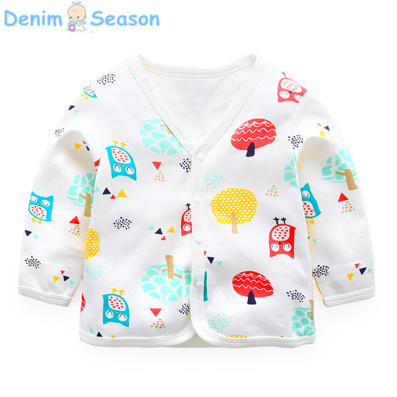 DenimSeason Summer Baby Cardigan Baby Coat Cartoon Baby Girl Cardigan White Cute Poncho Onesie Coat Summer Casaco Infantil