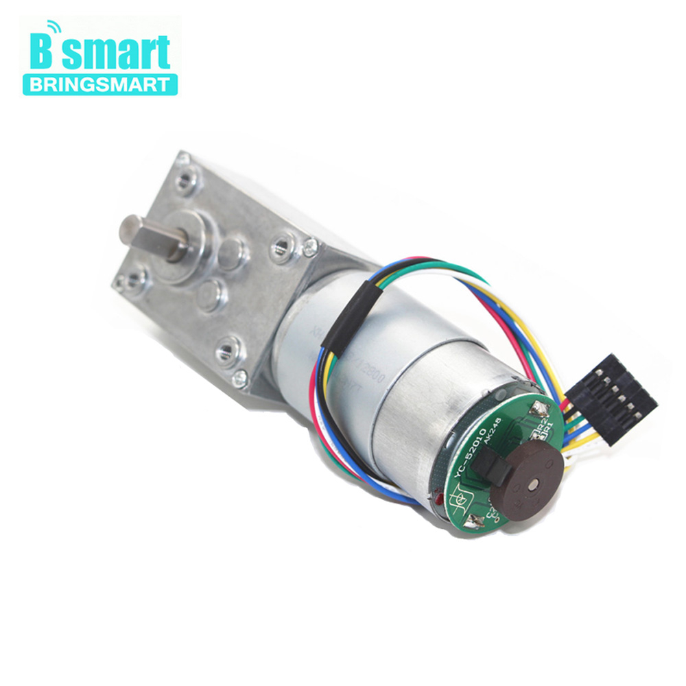 5840-555 12V 24V 12-470rpm Worm Gear Motor With Double Shaft Encoder