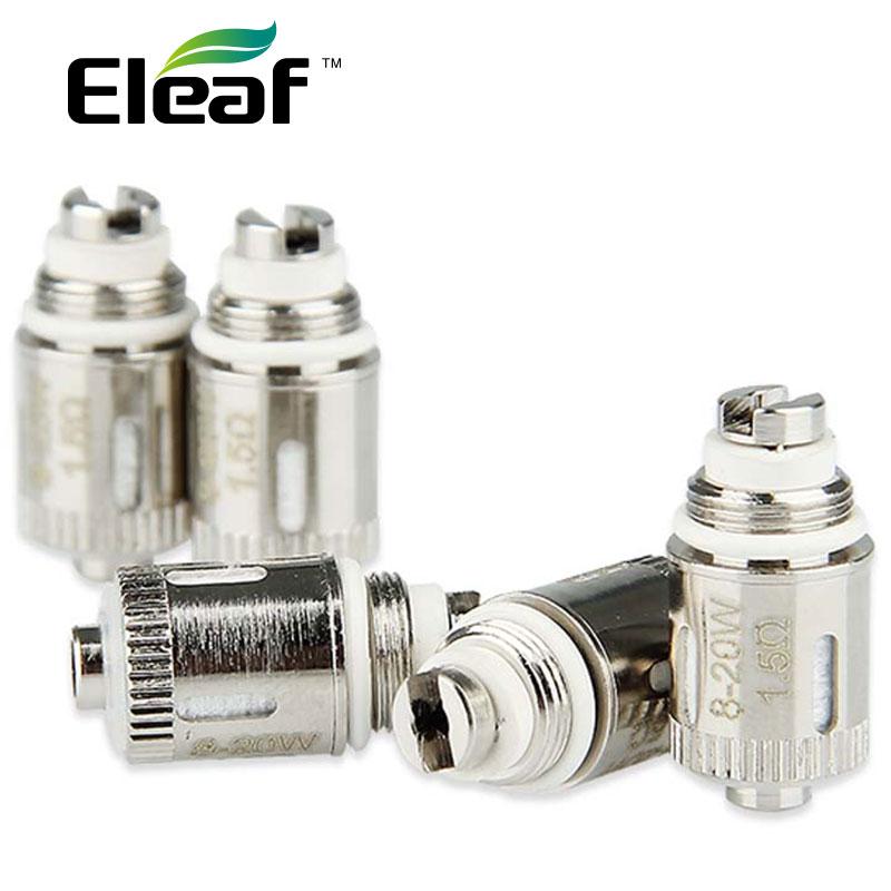Echte 5 stücke Eleaf GS-Air Dual Coil 1.5ohm GS Air Dual Coil zerstäuber Heads1.5ohm arbeit mit Eleaf GS LUFTZERSTÄUBER 5 teile/paket