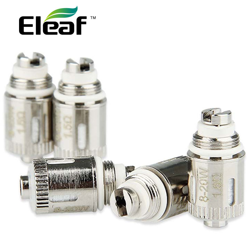 Genuine 5pcs Eleaf GS-Air Dual Coil 1.5ohm GS Air Dual Coil Atomizer Heads1.5ohm Work With Eleaf GS Air Atomizer 5 Pieces/ Pack
