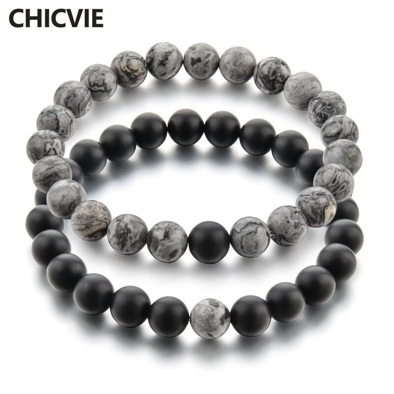 Купить chicvie 2019 серый и черный браслет с подвесками браслеты для