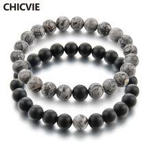Chicvie 2019 серый и черный браслет с подвесками браслеты для