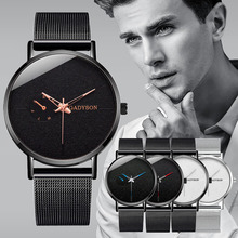 relogio masculino Mens Watches Top Brand Luxury Ultra-thin Wristwatches Fashion Mesh Steel Waterproof Clock Male erkek kol saati цена