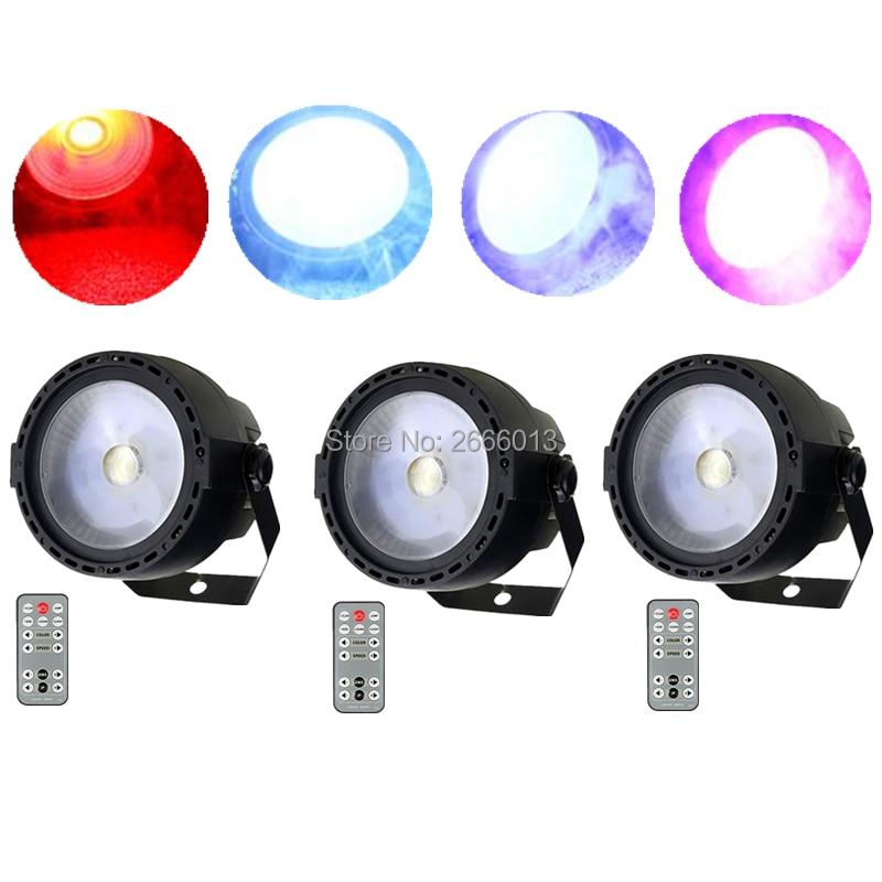 3pcs/lot 30W LED PAR COB Light Wireless Romote Control 30W DMX512 Stage Lighting Wash effect Bar nightclub party LED COB Lights