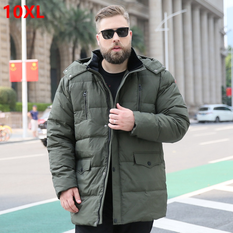 Extra Large Size Down Jacket Male Man Plus Fertilizer Winter New Warm 150kg Oversized Thick Section 10XL 9XL 8XL 7XL 6XL