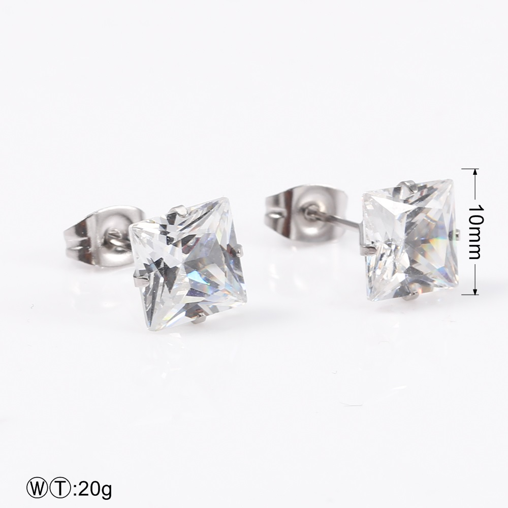 TL Double C Vintage Earrings for Women Stainless Steel Zircon Fashion Earrings Indian Jewelry Accessories Wedding Earrings