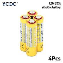 4 шт. 12 В G27A MN27 MS27 GP27A A27 L828 V27GA EL812 EL-812 сухая батарея для открывания Гаражных дверей дистанционное управление gps трекер