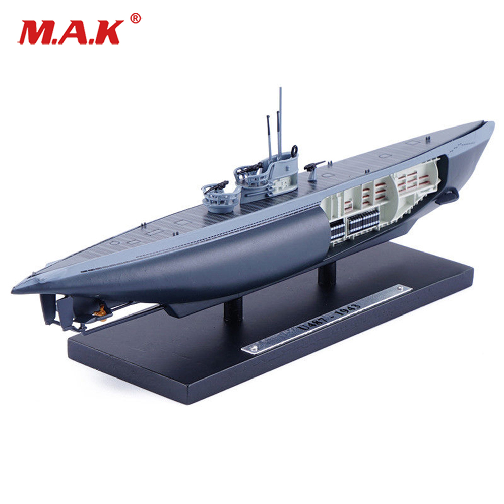 Kids toys 1/350 Scale ATLAS U487-1943 World War II Submarine Ship Model Collectible 1/350 Scale Ship Model Toy Gift paper model diy 1 200 world war ii the japanese battleship nagato ship papercraft ship funs gifts