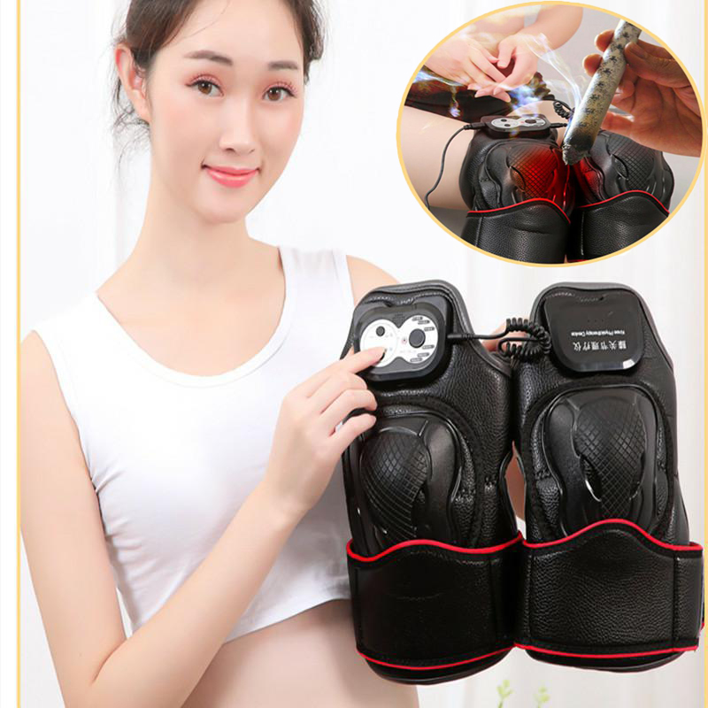 Knee Electric Magnetic Vibration Heating Massage Joint Physiotherapy Massage Pain Relief Rehabilitation Equipment Care