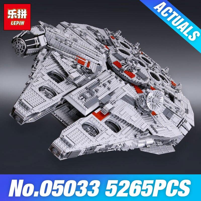 цена на LEPIN 05033 Star Plan 10179 Ultimate Millennium Collector's Falcon Model Wars Building Blocks Bricks Wars Toys Christmas Gifts