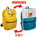 Jack and finn Backpack Adventure Time Bag School Bags for Teenagers Boys Girls Double Sided Cartoon Schoolbag satchel Knapsack