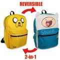 Jack and finn Backpack Adventure Time Bag School Bags for Teenagers Boys Girls Double Sided Cartoon Schoolbag satchel Knapsack