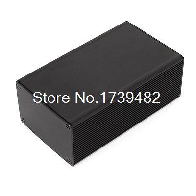 Aluminum Project Box Enclosure Case Electronic Power DIY 110x66x43mm Black 4pcs a lot diy plastic enclosure for electronic handheld led junction box abs housing control box waterproof case 238 134 50mm
