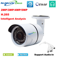 Newest 2MP 3MP 5MP Megapixel H 265 Intelligent Analysis IP Camera HD CCTV Security Camera Webcam