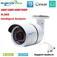 Newest 2MP 3MP 5MP Megapixel H 265 Intelligent Analysis IP Camera HD CCTV Security Camera Webcam