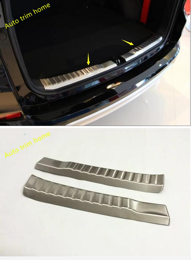 For Honda CRV CR-V 2015 2016 High Quality Tail Trunk Rear Bumper Inner Door Sill Protection Plate Cover Trim 2 Pcs