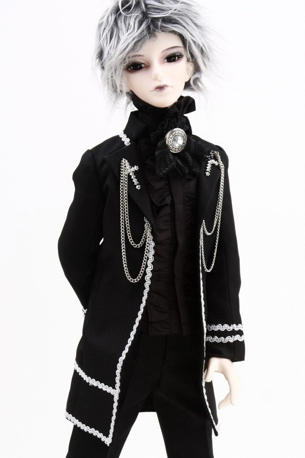 510# Prince Black Suit/Outfit SD17 DZ70 BJD Boy Dollfie [wamami]507 silver suit sd17 dod70 dz bjd boy dollfie