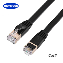 Trumsoon Cat7 Lan Cable UTP RJ45 Flat Line Ethernet Patch Cord Network Cable for Router laptop Switch ADSL j m harrington piano prelude no 15