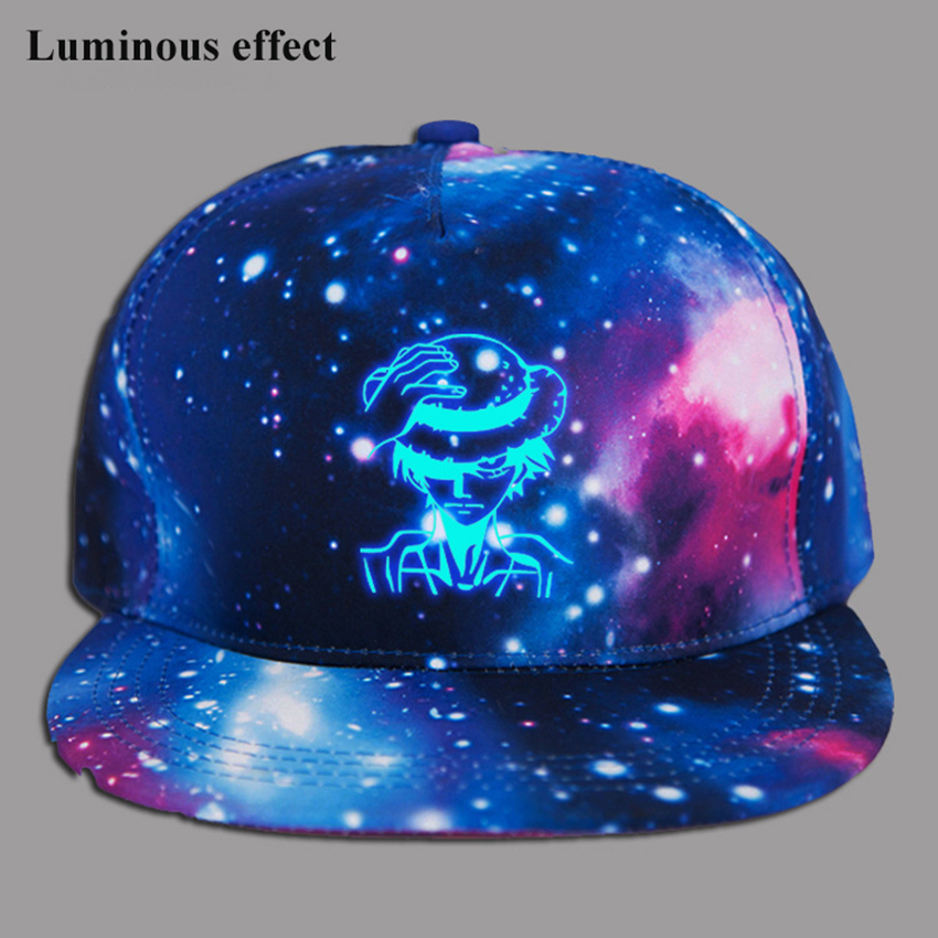 Men Women Anime One Piece Monkey D Luffy Printing Cotton Hat Sport Luminous Hat Baseball Cap unisex Accessories Cosplay Hip Hop in Boys Costume Accessories from Novelty Special Use